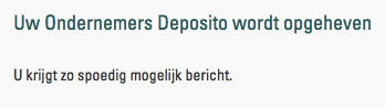 Deposito-opgeheven