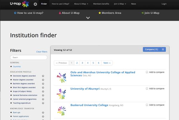U-Map website